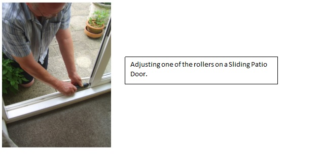 adjusting sliding door locks